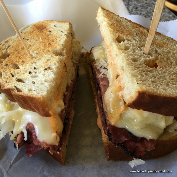 hot pastrami sandwich at Geppetto's Caffe in Orinda, California