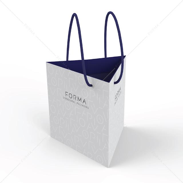 Desain Paper Bag/ Tas Belanja Segitiga
