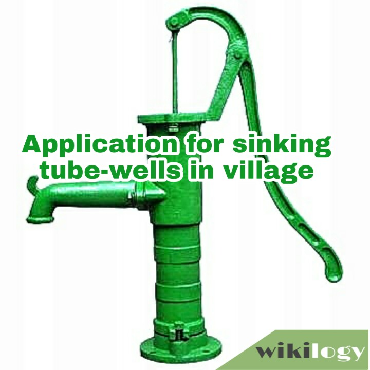 Application to the Chairman of Union Council for sinking tube-wells in the village