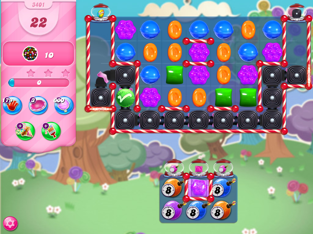 Candy Crush Saga level 3401