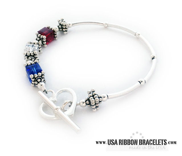 Red White & Blue Bracelet for Mommy for Mother's Day