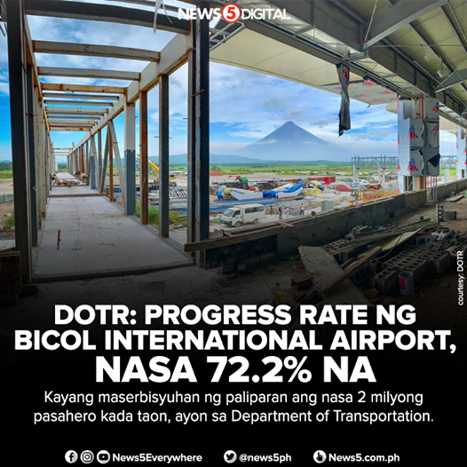 BICOL INTERNATIONAL AIRPORT - Most Scenic Airport, Getting Closer to Completion