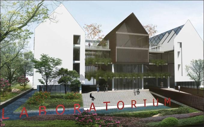 desain kampus tanjungpura dengan konsep waterscape