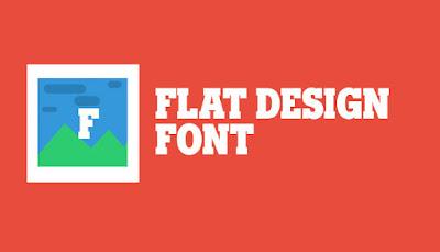 Font Keren untuk Flat Desain
