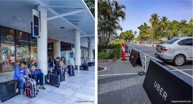 Ponto de Uber do Aeroporto Santos Dumont