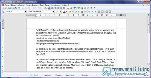 SoftMaker FreeOffice : une suite bureautique alternative
