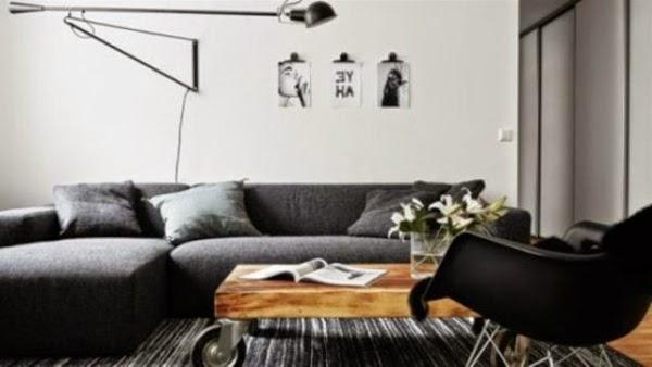 sala moderna blanco gris