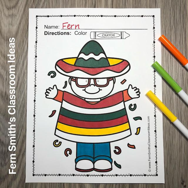 FREE Color For Fun for your class, Cinco de Mayo Coloring Book Fun! #FernSmithsClassroomIdeas