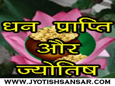 dhan prapti yog in hindi jyotish