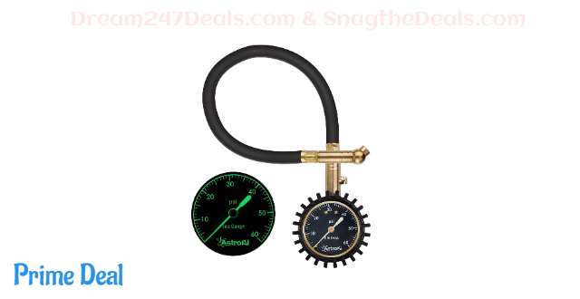 40% OFF AstroAI Tire Pressure Gauge Expert, 0-60 PSI, Certified ANSI B40.1 Accurate with Improved Needle and Chuck