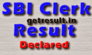 SBI Clerk Result 2014 Declared