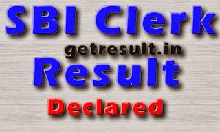 SBI Clerk Result 2014 Declared