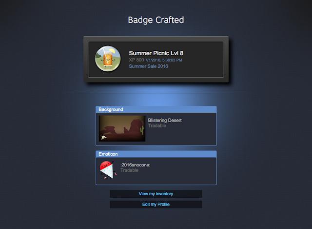 Steam Badges Steam Summer Picnic Sale 2016 Badge