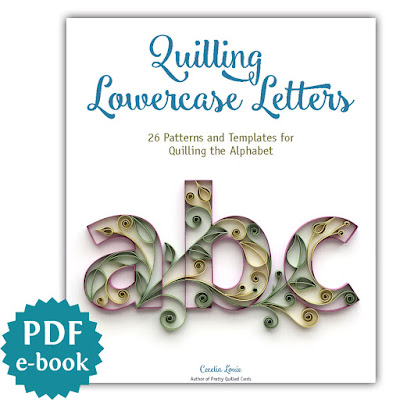 quilling lowercase letters alphabet tutorial pattern