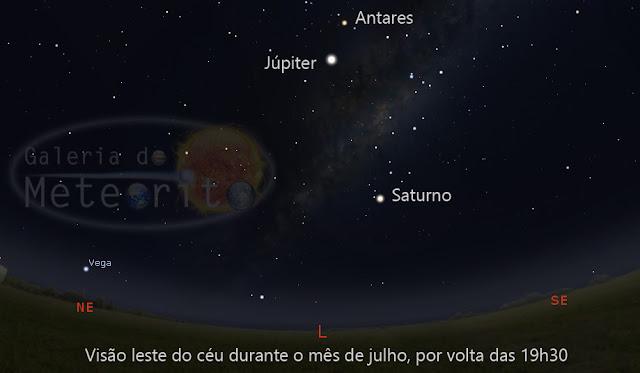 Saturno em oposição - mais próximo da Terra