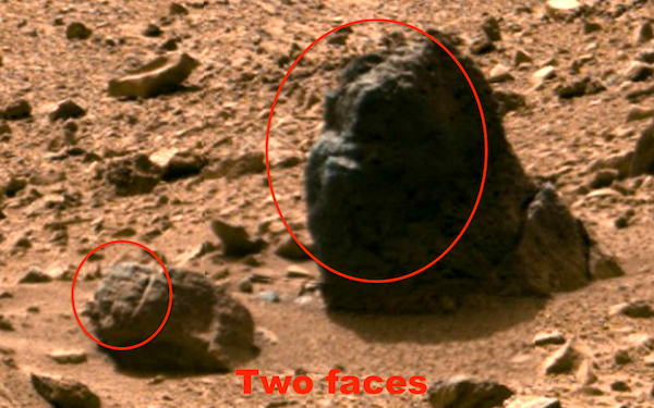 Ufo sightings daily alien skull found on mars in billion