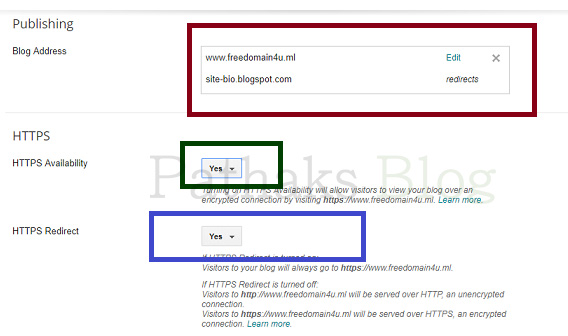 custom domain https redirect in blogger, pathaks blog, anil pathak blog