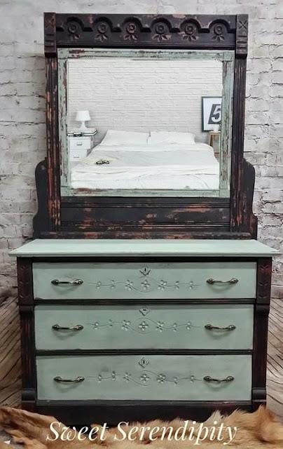green vanity makeover