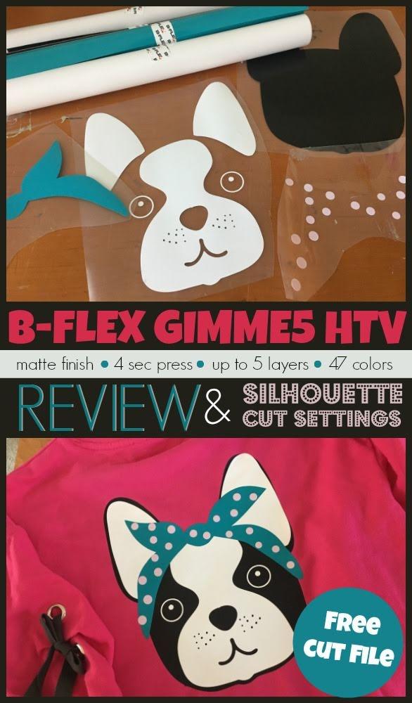 silhouette 101, silhouette school blog, b-flex gimme5 htv, heat transfer vinyl, htv