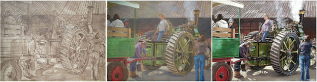 Martin davey artist hampshire Burlsedon oil painting