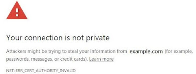 Your connection is not secure and SSL certificate