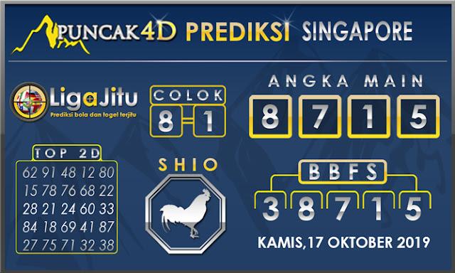 PREDIKSI TOGEL SINGAPORE PUNCAK4D 17 OKTOBER2019