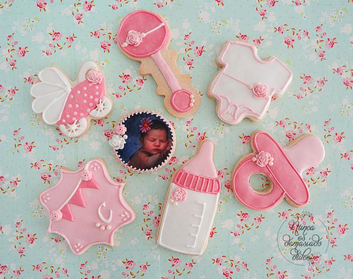 Nunca es demasiado dulce galletas baby shower ni a - Decoracion baby shower nina sencillo ...