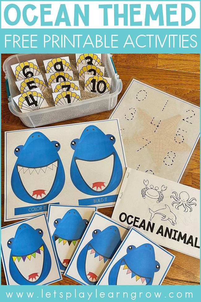 Ocean Themed Free Printable Activities