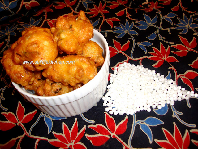 Images of Sago Bonda Recipe / Sabudana Bonda Recipe / Saggubiyyam Bonda Recipe /  Javvarisi Bonda Recipe