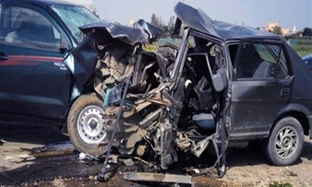 Gabès : Une collision entre quatre véhicules fait deux morts et dix blessés