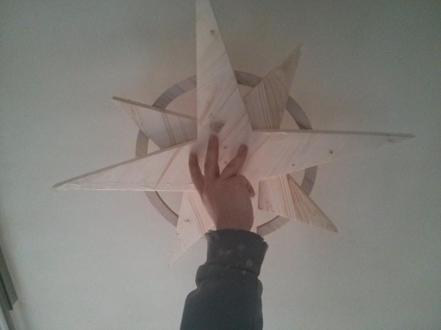 Estructura de la lámpara Rosa de los Vientos.