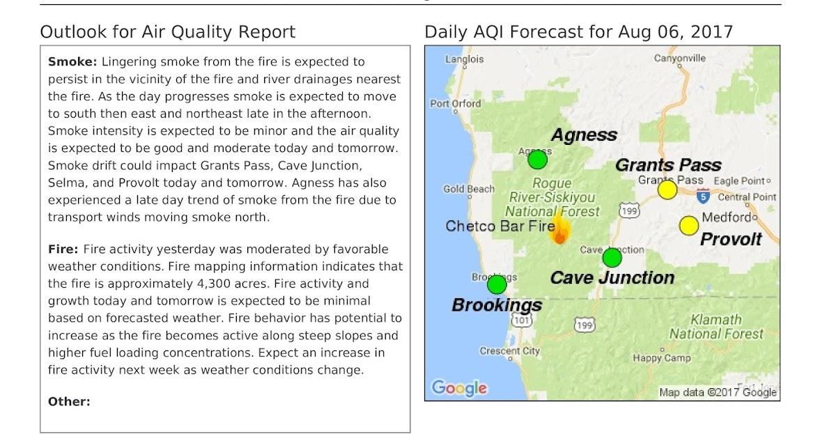 Oregon Smoke Information: Smoke Forecast for Chetco Bar Fire