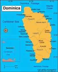Peta Negara Dominika
