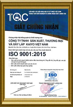 Sản phẩm ống gió đạt tiêu chuẩn ISO 9001-2015