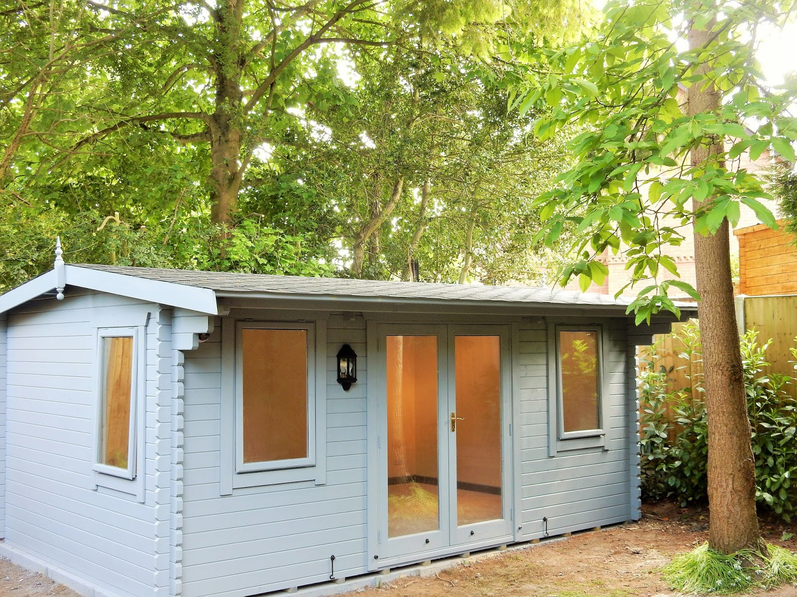 Southwick 39 S Garden Offices Insulated Log Cabin Completed