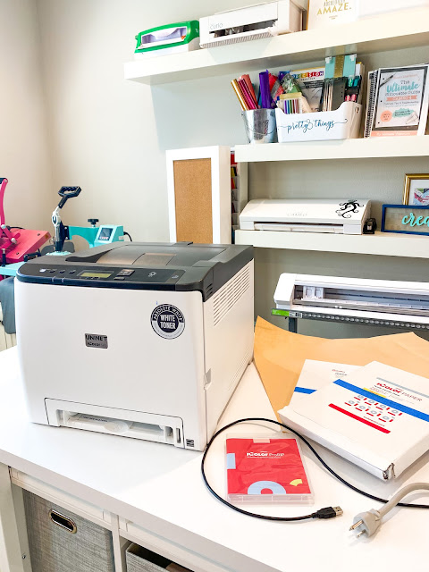 white toner printer, uninet icolor, small business printer, printer issues, printer unboxing