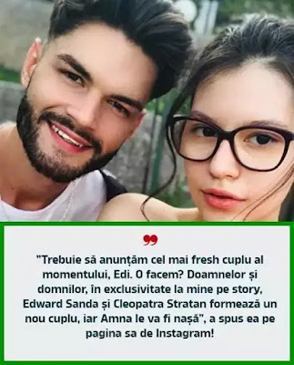 Edward Sanda si Cleopatra Stratan nou cuplu sunt impreuna