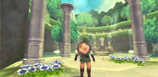 an HD screenshot of Skyward Sword where Link enters the Skyview Spring