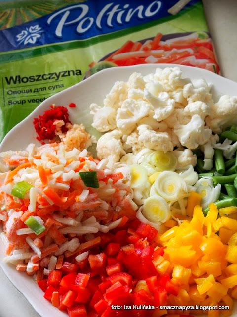 zupa jarzynowa, kolowe warzywa, zupa warzywna, wloszczyzna, poltino, smaki lata, zupa dnia, zupy, domowe jedzenie