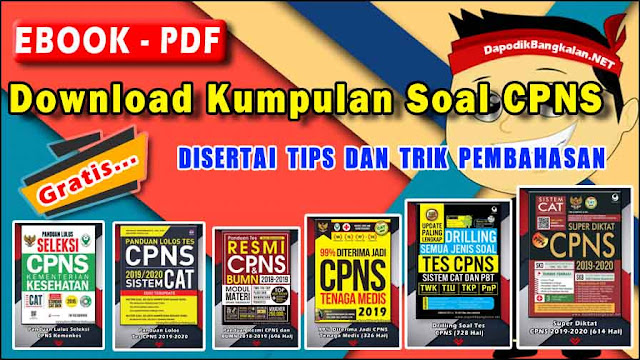 Download Kumpulan Soal CPNS + Kunci Jawaban 2019 (Ebook PDF)