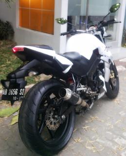 Yamaha Byson Anda Agar Kelihatan Gagah!! Ganti Ukuran Ban Lebih Besar