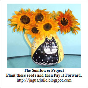 The Sunflower Project Free Seeds Packet Label Logo