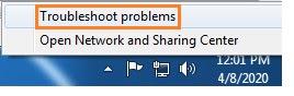 Desktop internet resolve, network diagnostics