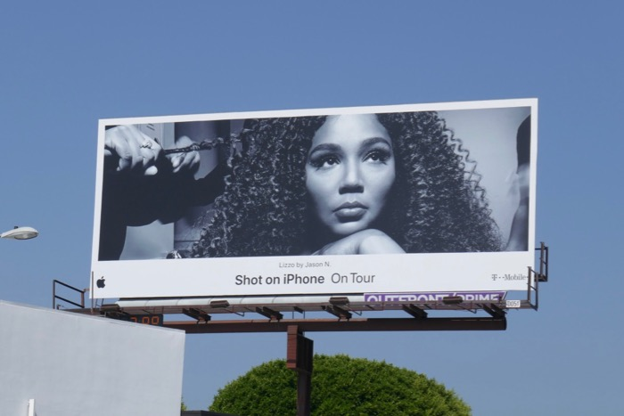 Lizzo Shot on iPhone On Tour billboard