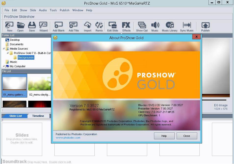 Photodex ProShow Gold 903771 Crack Serial