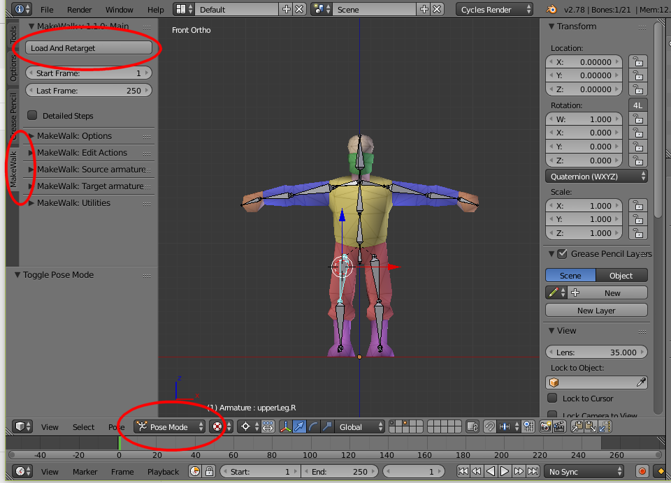Nerd Club: Importing BVH files into Blender Rigify-ied rig with MakeWalk