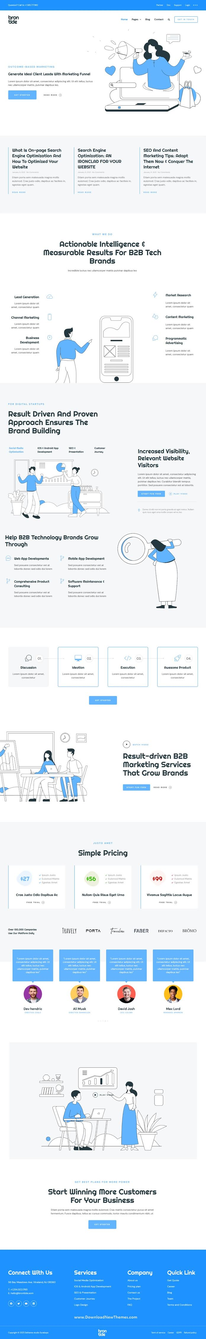 IT Solutions and Technology Startup Elementor Template Kit