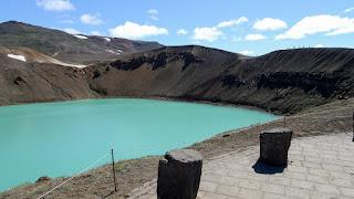 Up at crater Krafla