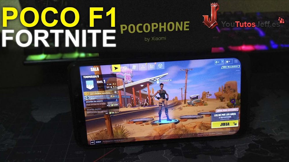 Fortnite en Pocophone F1 - Fortnite Android