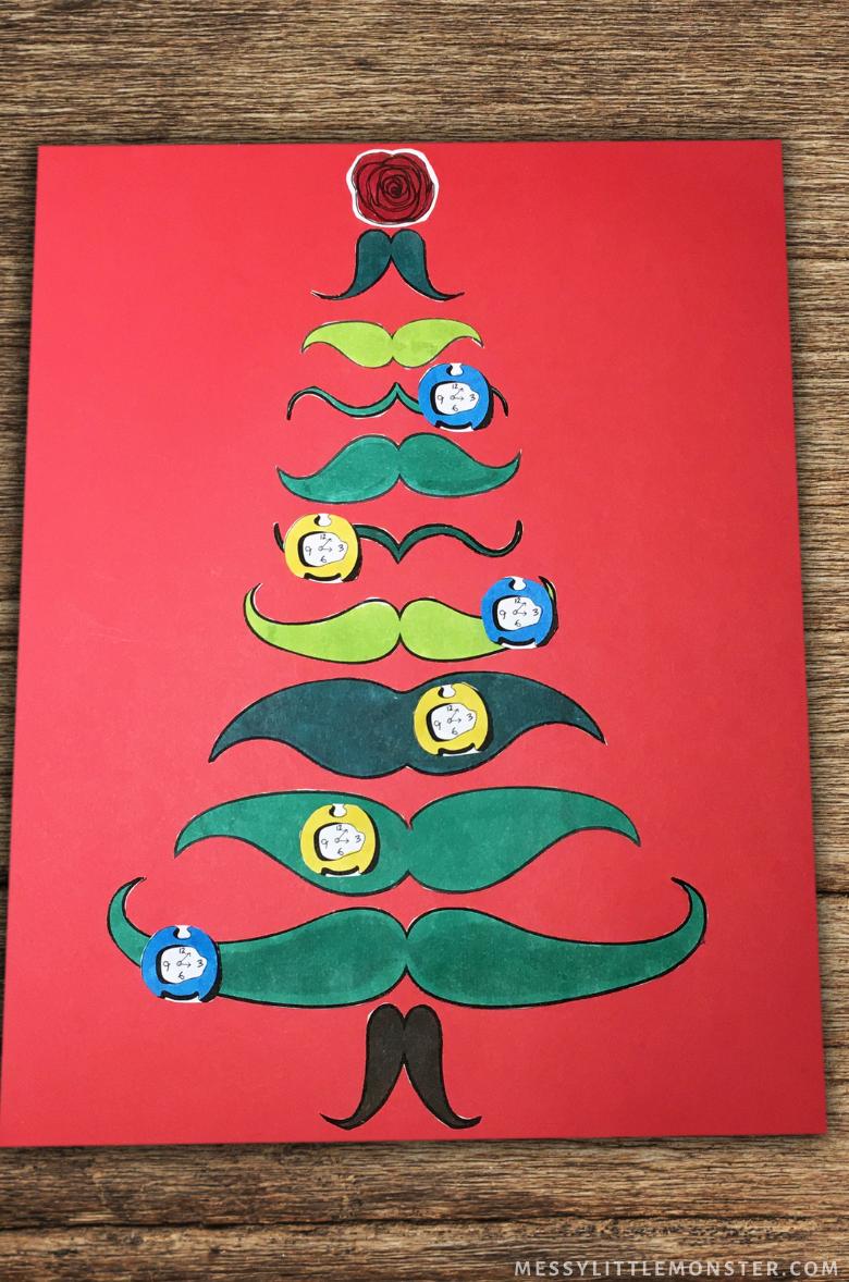 Salvador Dali Christmas Tree Craft for Kids